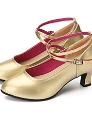 "cheap -Women's Modern Faux Leather Sneaker Outdoor / Customized Heel Gold 2"" - 2 3/4"" Customizable"