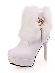 economico -Da donna Scarpe PU (Poliuretano) Autunno Inverno Comoda Anfibi Club Shoes Scarpe luminose Stivaletti Basso Punta tonda Lacci Per Casual