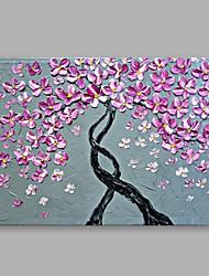 手描きの 花柄/植物の 横式, 近代の キャンバス ハング塗装油絵 ホームデコレーション 1枚