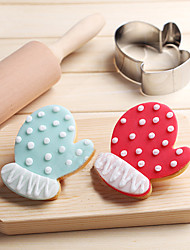 cheap -Christmas Gloves Cookies Cutter Stainless Steel Biscuit Cake Mold Fondant Baking Tools