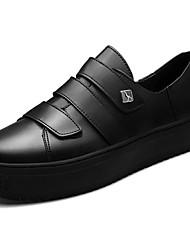 baratos -Mulheres Sapatos TPU Primavera Outono Solados com Luzes Tênis Ponta Redonda Presilha para Casual Branco Preto