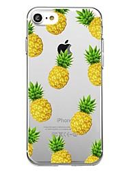 Недорогие -Кейс для Назначение Apple iPhone X / iPhone 8 Pluss / iPhone 8 С узором Кейс на заднюю панель Продукты питания / Фрукты Мягкий ТПУ