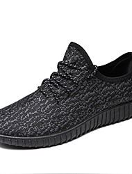 cheap -Men's Shoes Knit Fabric Tulle All Season Comfort Athletic Shoes Running Shoes For Athletic Casual Black/White Black