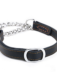 cheap -Dog Collar Portable Solid Genuine Leather Brown Black