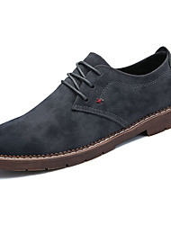 cheap -Men's Shoes PU Spring Fall Comfort Oxfords For Outdoor Coffee Gray Black