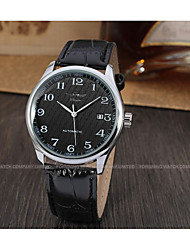 cheap -WINNER Men's Automatic self-winding Wrist Watch Calendar / date / day Leather Band Vintage Casual Dress Watch Fashion Black