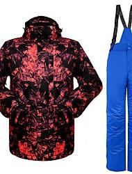 Недорогие -Муж. Лыжная куртка и брюки Теплый Вентиляция С защитой от ветра Пригодно для носки водостойкий Катание на лыжах Пешеходный туризм Разные