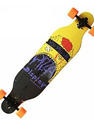 preiswerte -41 Zoll Komplett Skateboards Künstlich Lässig/Alltäglich Sport PU - Leder/Polyurethan Leder 4-Schwarz Orange Gelb Totenkopf Motiv