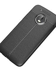 Недорогие -Кейс для Назначение Motorola G5 Plus G5 Защита от удара Матовое Кейс на заднюю панель Сплошной цвет Мягкий ТПУ для Moto Z2 play Мото G5