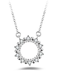Жен. Ожерелья с подвесками Круглый Серебрянное покрытие корейский Мода Бижутерия Назначение Другое Повседневные