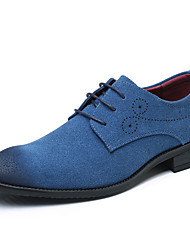 cheap -Men's Shoes Nubuck leather All Season Summer Driving Shoes Comfort Oxfords Draped For Office & Career Party & Evening Blue Red Gray Black