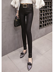 cheap -Women's Mid Rise Stretchy Skinny Tights Pants,Casual Sexy Solid Cotton Rayon Winter Fall