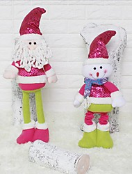 Festa / Noite Natal Lembrancinhas & Presentes para Festas-Presentes Ornamentos Lantejoulas Tecido TNT Férias Tema Fadas Família