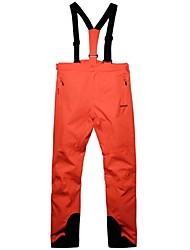 abordables -Hombre Pantalones de Esquí Impermeable, Templado, Resistente al Viento Esquí / Camping y senderismo / Ejercicio al Aire Libre Poliéster Pantalones / Sobrepantalón / Pantalones de babero de nieve Ropa