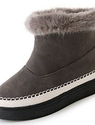 cheap -Women's Shoes Fleece Winter Light Soles Fur Lining Boots Chunky Heel Round Toe Booties/Ankle Boots for Casual Black Gray