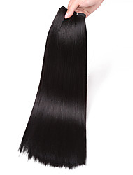 cheap -Kanekalon 18inch 100g Hair Weave Synthetic Perm Yaki Straight Long Weft Sew in Hair Extensions