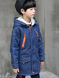 cheap -Boys' Solid Down & Cotton Padded Long Sleeves Blue