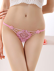 cheap -Women's Floral Embroidered G-strings & Thongs Panties Ultra Sexy Panties Spandex