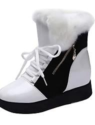 baratos -Mulheres Sapatos Courino Outono / Inverno Botas da Moda / Botas de Neve Botas Creepers Ponta Redonda Botas Curtas / Ankle para Escritório