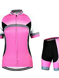 baratos -Arsuxeo Mulheres Manga Curta Camisa com Shorts para Ciclismo - Vermelho Moto Conjuntos de Roupas, Secagem Rápida, Design Anatômico,