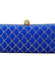 Women Bags Velvet Evening Bag Crystal Detailing for Wedding Event/Party All Season Blue