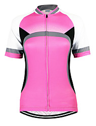 cheap -Arsuxeo Women's Short Sleeves Cycling Jersey Bike Jersey, Quick Dry, Anatomic Design, Breathable