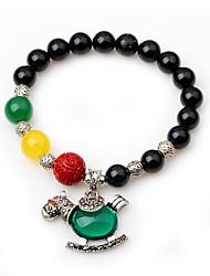 cheap -Women's Onyx Strand Bracelet - Animals Circle Black Bracelet For Gift Going out