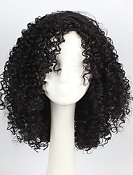 Natual Black Color Hair Synthetic Cosplay Wig for Women Party Wig