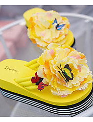cheap -Women's Shoes PU Spring Fall Comfort Sandals Creepers for Casual White Black Yellow Red