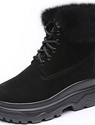 abordables -Mujer Zapatos Piel Otoño / Invierno Botas de nieve / Botas de Moda / Botas de Combate Botas Media plataforma Dedo redondo Mitad de Gemelo