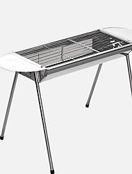 Недорогие -Походная горелка Гриль для кемпинга Все для приготовления пищи на улице Пригодно для носки Нержавеющая сталь Металлический сплав для