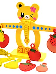 preiswerte -Bausteine Spielzeuge Spielzeuge Tier Tier Schule Aufrechtes Design Holz Stücke