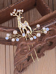 cheap -Crystal Imitation Pearl Rhinestone Hair Stick with Imitation Pearl 1pc Wedding Party / Evening Headpiece