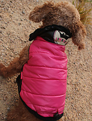 cheap -Cat Dog Coat Hoodie Jumpsuit Dog Clothes Casual/Daily Keep Warm Waterproof Sports Tiaras & Crowns Print Fuchsia Costume For Pets