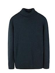 economico -Standard Pullover Da uomo-Quotidiano Casual Tinta unita A collo alto Manica lunga Cashmere Inverno Autunno Spesso Anelastico