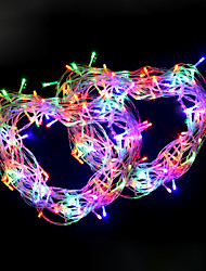 cheap -10M 100 LEDs Warm White Cold White Purple Red Blue Green String Lights AC 110/220V