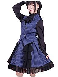 cheap -Sweet Lolita Dress Princess Lolita Women's Girls' Skirt Corset Cosplay Blue Green Sleeveless Sleeveless Ankle Length