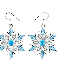 cheap -Women's Drop Earrings Synthetic Sapphire Simple Fashion Elegant Copper Glass Snowflake Jewelry Wedding Party