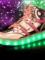 cheap -Boys' Shoes Breathable Mesh Spring / Fall Comfort / Novelty / Light Up Shoes Sneakers Lace-up / LED for Black / Red / Blue
