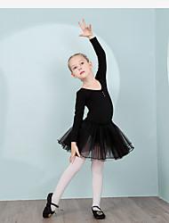 Недорогие -Детская одежда для танцев Балетное трико Детские Учебный Хлопок Длинный рукав Средняя талия трико