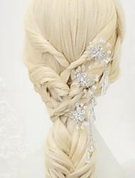 billige -Krystal / Rhinsten / Legering Hair Pin med 3 Bryllup / Speciel Lejlighed Medaljon