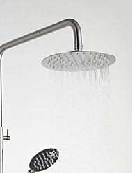 Недорогие -Смеситель для душа - Современный Матовый никель Душевая система Керамический клапан Bath Shower Mixer Taps / Нержавеющая сталь / Одной ручкой Два отверстия