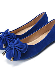cheap -Women's Shoes Nubuck leather Spring Fall Comfort Flats Null / Round Toe Null / for Casual Purple Fuchsia Blue Pink Khaki