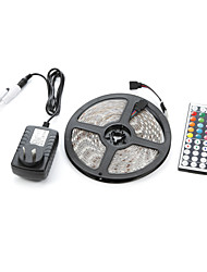 abordables -5m 300smd 5050 étanche 44keys ir télécommande 12v3a alimentation led strip light sets ac100-240v