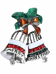 abordables -Femme Forme de Noeud Zircon cubique Zircon Broche - Dessin Animé / Mode / Pierre Forme de Noeud Rouge Broche Pour Noël / Bureau et