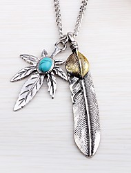 cheap -Men's Turquoise Pendant Necklace  -  Wings Rock Silver Necklace One-piece Suit For Street, Going out