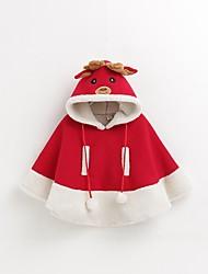 baratos -Rena Vestido de Natal Crianças Natal Festival / Celebração Trajes da Noite das Bruxas Vermelho Natal Natal