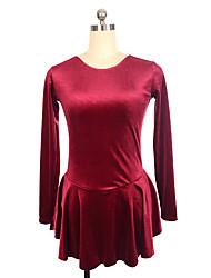 abordables -Robe de Patinage Artistique Femme / Fille Patinage Robes Noir / Fuchsia / Rouge Spandex Non Elastique Utilisation / Exercice Tenue de