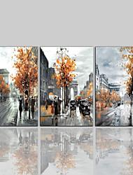 Tela de impressão Contemprâneo Clássico Rústico Modern,3 Painéis Tela Vertical Estampado Decoração de Parede Decoração para casa