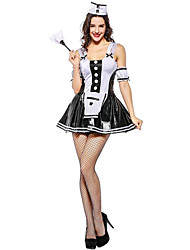cheap -Maid Costume Oktoberfest Cosplay Costume Hats Maid Suits Women's Halloween Carnival Festival / Holiday Halloween Costumes White Color